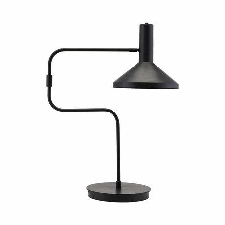 Housedoctor Lámpara de mesa de 66 cm de metal negro