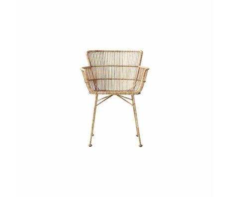 Housedoctor silla de comedor Coon Natural 60.5x80x62cm mimbre marrón