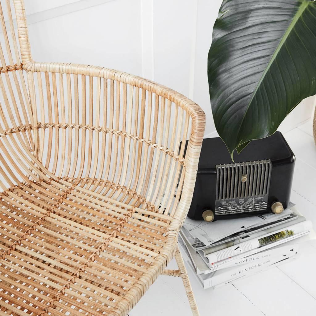 Housedoctor silla de comedor Coon Natural 60.5x80x62cm mimbre marrón ...