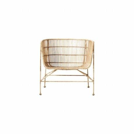 Housedoctor Marrón natural silla de mimbre Coon 60,5x70x70cm