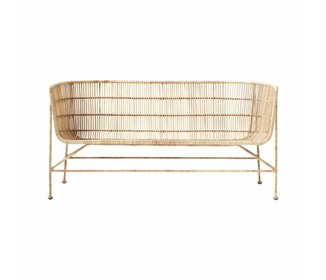 Housedoctor Banca Coon marrone naturale rattan 65.5x140x70cm