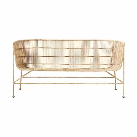 Housedoctor Bank Coon Naturbrun rattan 65.5x140x70cm