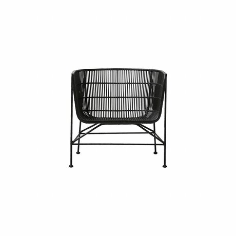 Housedoctor Coon de ratán negro silla 60.5x70x70cm