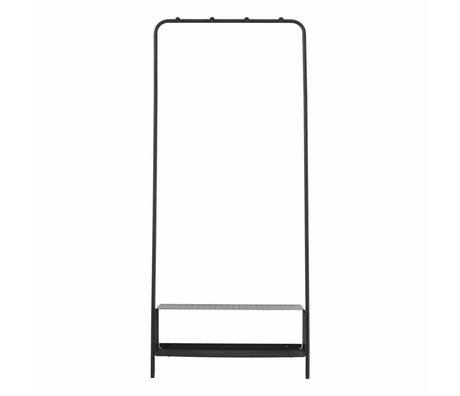 Housedoctor Camino del estante de acero negro 74x32x175cm