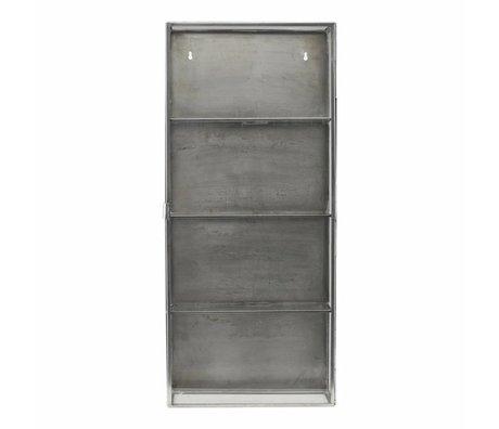 Housedoctor Armoire verre métallique gris zinc 35x15x80cm