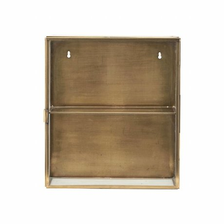 Housedoctor Wardrobe brass brass, metal, glass, 35x15x40cm