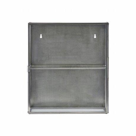 Housedoctor Armadio grigio zinco metallico 35x15x40cm vetro