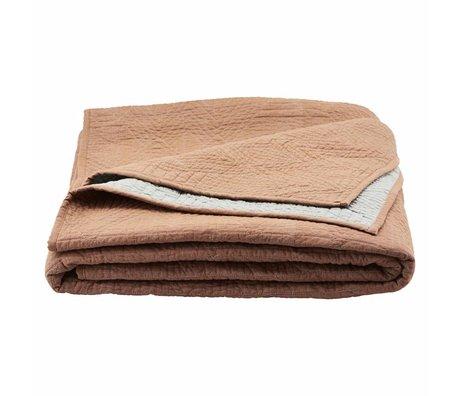 Housedoctor Bedspread Tria naranja marrón 250x250cm algodón