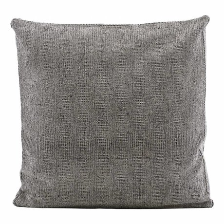 Housedoctor Cuadro de la funda de almohada del NIST repelente gris de algodón 45x45x5cm