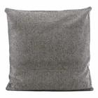 Housedoctor Cuadro de la funda de almohada del NIST repelente gris de algodón 55x55x5cm