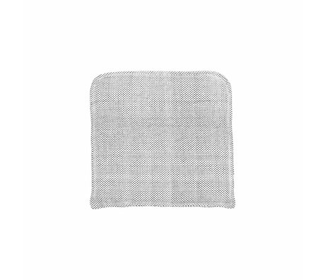 Housedoctor Coon gray cotton pillow 48x48cm