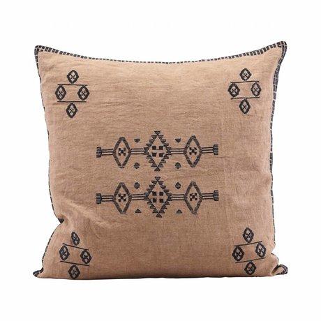Housedoctor Kussenhoes Inca nøgen lyserød linned 50x50cm