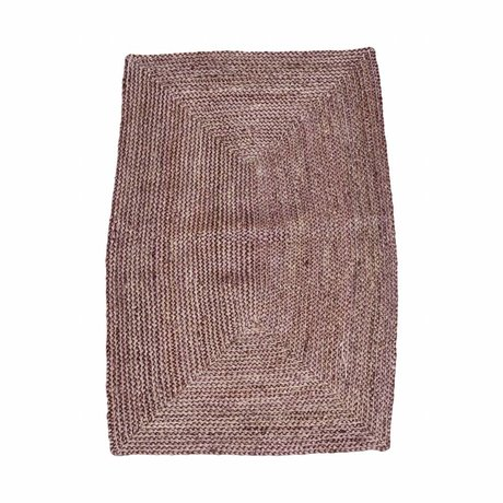 Housedoctor Structure Tapis Henna rose 85x130cm chanvre rouge