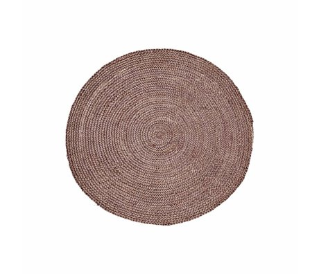 Housedoctor Structure Tapis rouge Henna rose chanvre ∅ 100cm