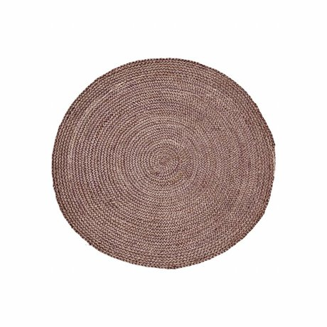 Housedoctor Teppich Structure Henna rosa rot Hanf ∅ 100cm