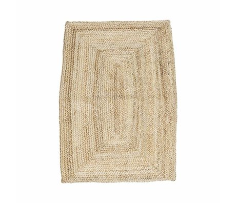 Housedoctor structure tapis de brun naturel 85x130cm de chanvre
