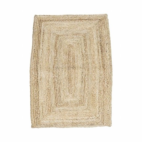 Housedoctor Carpet structure natural brown hemp 85x130cm
