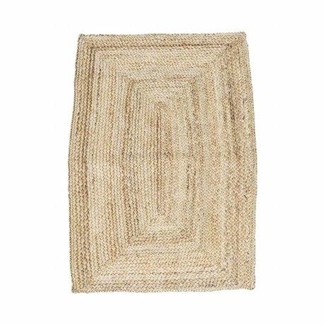 Housedoctor estructura de la alfombra de 85x130cm cáñamo marrón natural