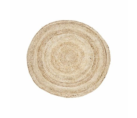 Housedoctor Carpet structure natural brown hemp Ø100cm