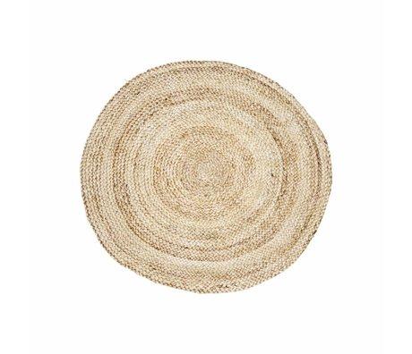 Housedoctor Tæppestruktur af naturlig brun hamp Ø100cm