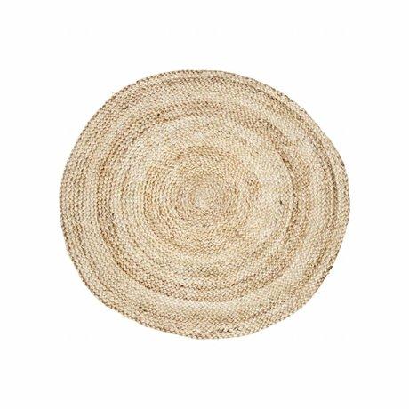 Housedoctor estructura de la alfombra de Ø100cm cáñamo marrón natural
