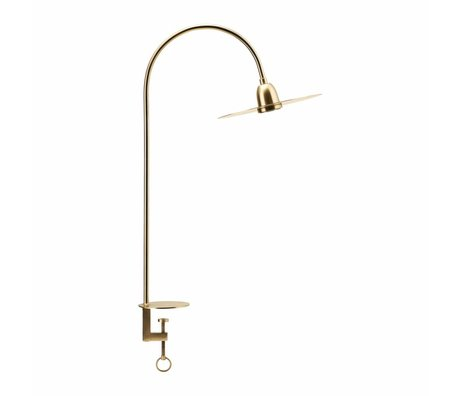 Housedoctor Tischlampe Glow Messing Gold Metall 79cm