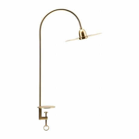 Housedoctor Lámpara de mesa Glow latón 79cm de metal de oro