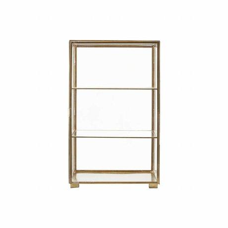 Housedoctor 35x35x56.6cm Cabinet Oro, Ferro, Vetro