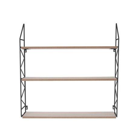 pt, Wandrek Zig Zag de metal negro 60x60x11cm madera