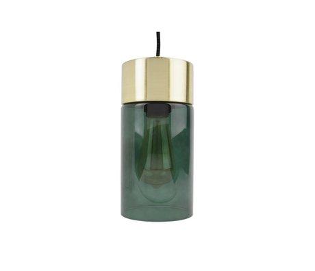 Leitmotiv Lax oro pendente vetro luce verde Ø12cmx24,5cm