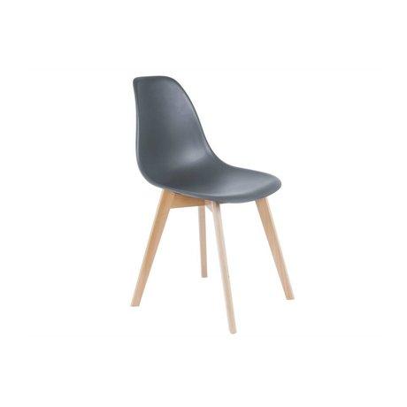 Leitmotiv Spisebordsstol grundlæggende grå plast tømmer 80x48x38cm