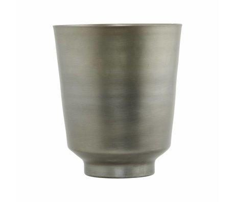 Housedoctor Vaso di fiori Oli Silber ferro Ø14,5x18cm