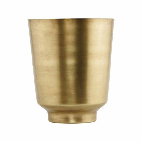 Housedoctor Vaso di fiori Oli Ø20x25cm oro-ferro