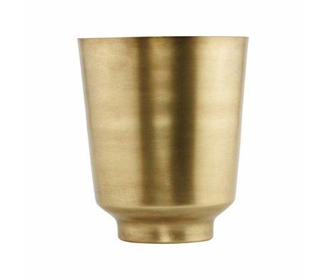 Housedoctor Vaso di fiori Oli Ø14,5x18cm oro-ferro