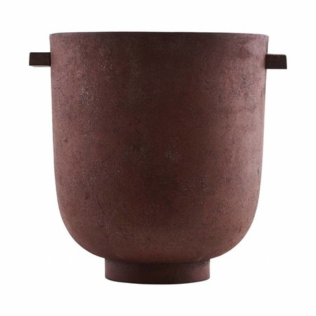 Housedoctor Pot FOEM brændt rød metal Ø20x23cm