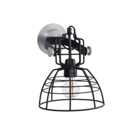 Anne Lighting Lámpara de pared Anne MarkllI Mini ø22x24cm de metal negro