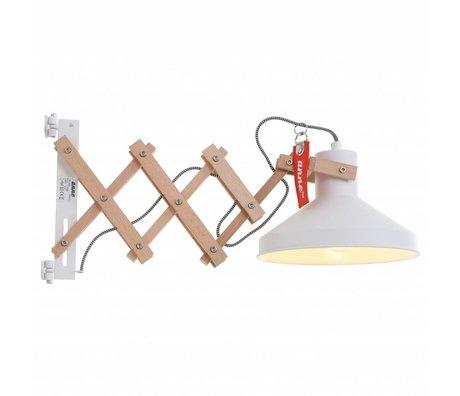 Anne Lighting Væglampe Woody Schere hvid ø23x40-66cm Metal Træ Metal