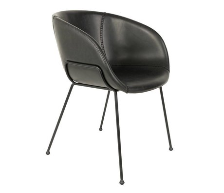 Zuiver Dining chair Feston black artificial leather 54,5x53x88,5cm