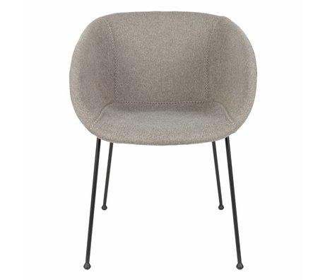 Zuiver Eetkamerstoel Feston Fab gray polyester 56,5x55x77cm