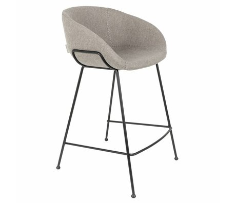 Zuiver Stool Feston Fab counter gray polyester 54,5x53x88,5cm