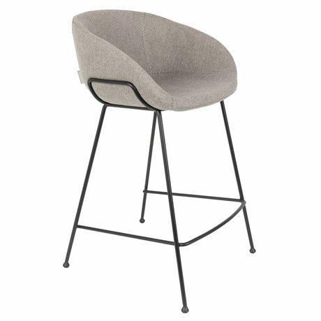 Zuiver Hocker Feston Fab Zähler grau Polyester 54,5x53x88,5cm