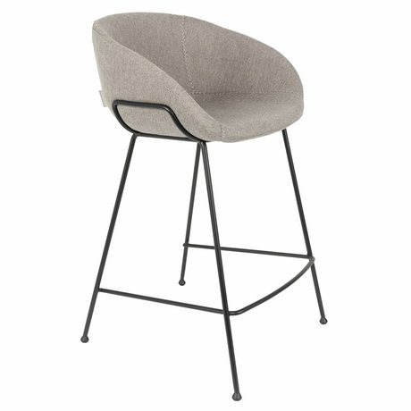 Zuiver Tabouret Feston Fab counter 54,5x53x88,5cm polyester gris