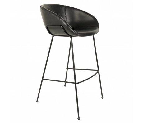 Zuiver Bar chair Feston black artificial leather 54,5x53x98,5cm