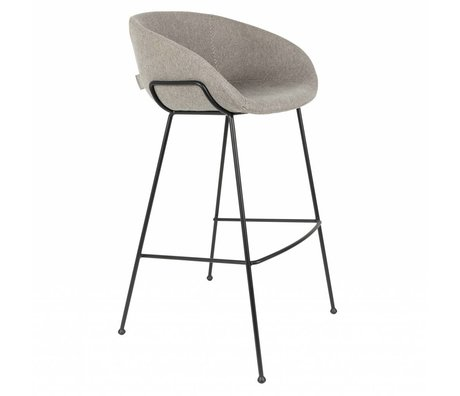 Zuiver Chaise Feston 54,5x53x98,5cm polyester gris