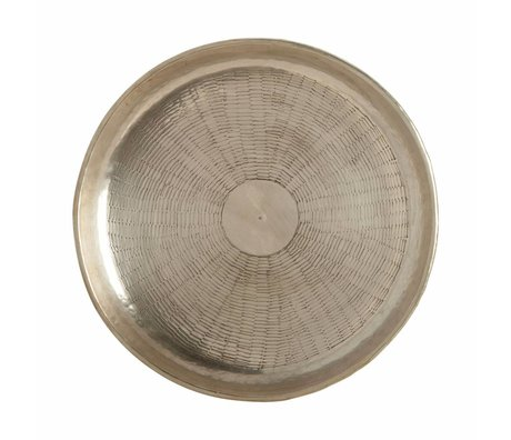 Housedoctor Vassoio scolpire metallo oro Ø30cmx1,5cm