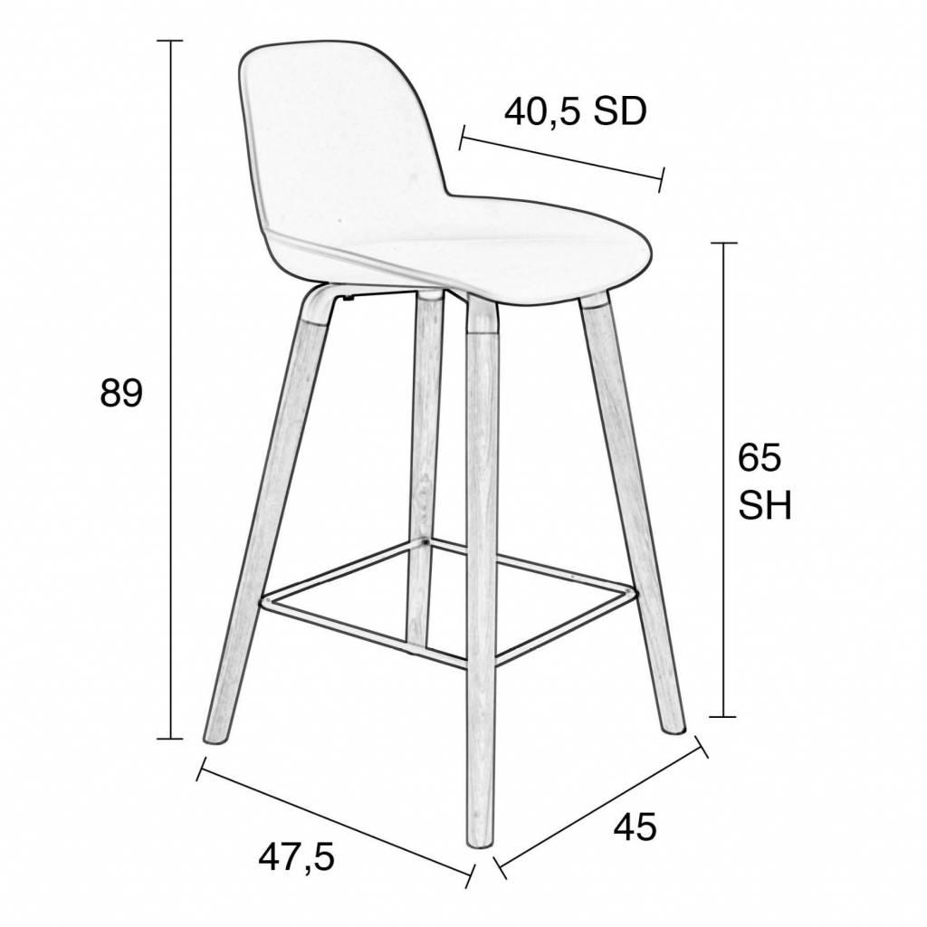Enjoyable Zuiver Bar Chair Albert Kuip Counter Dark Gray Plastic Wood 45X47 5X89Cm Andrewgaddart Wooden Chair Designs For Living Room Andrewgaddartcom