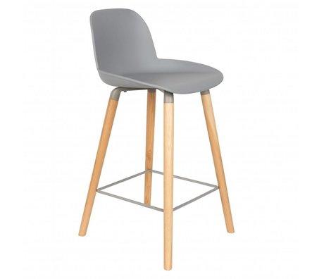 Zuiver Bar chair Albert Kuip counter light gray plastic wood 45x47,5x89cm