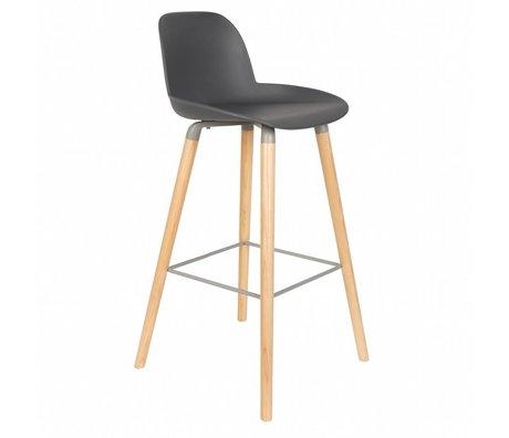 Zuiver Bar chair Albert Kuip dark gray plastic wood 50x48x99cm