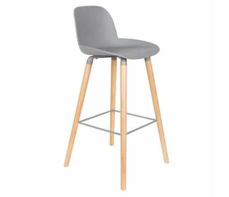 Zuiver Bar chair Albert Kuip light gray plastic wood 50x48x99cm