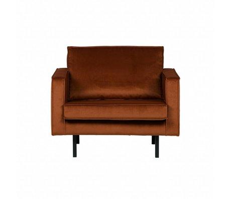 BePureHome Sillón Rodeo de color naranja óxido 105x86x85cm terciopelo terciopelo